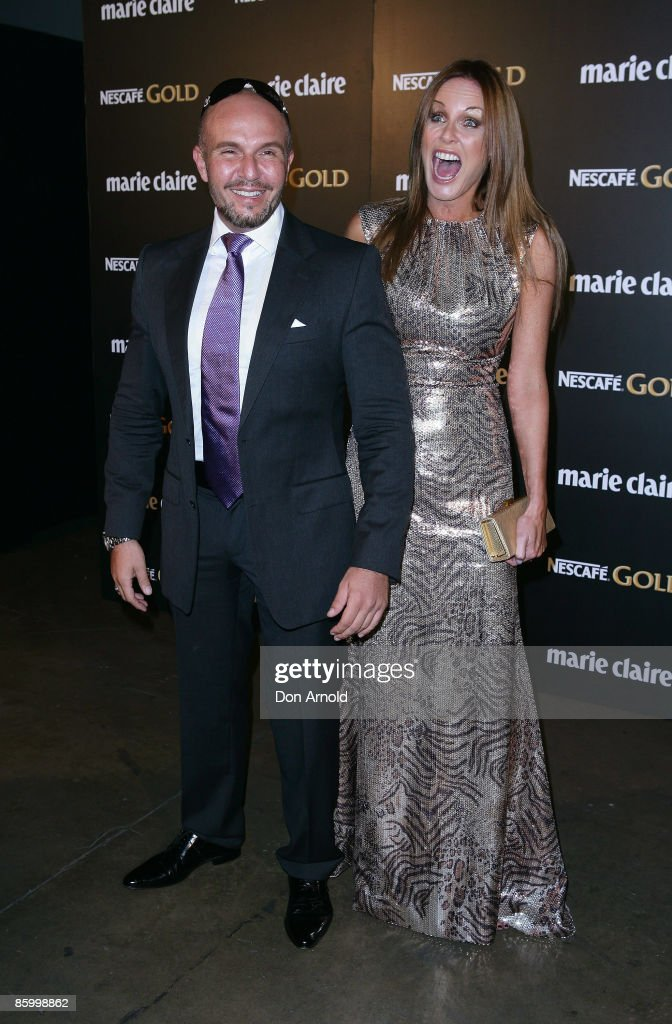 Alex Perry and Charlotte Dawson arrive for the 2009 Prix de Marie Claire Awards at the Royal Hall of Industries on April 16 2009 in Sydney Australia