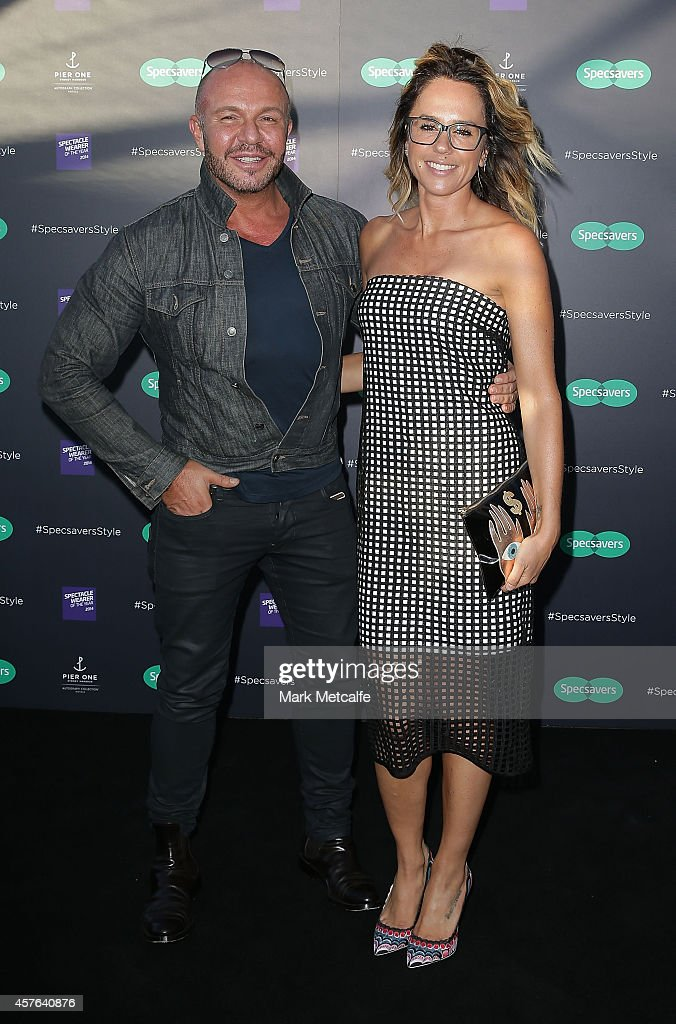 Alex Perry and Pip Edwards arrive at Specsavers Fashion Show 2014 at Pier One Hotel, Sydney Harbour Bridge on October 22, 2014 in Sydney, Australia.