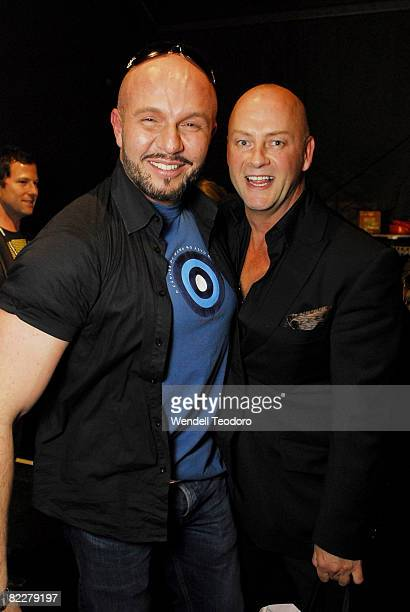 Alex Perry Peter Morrissey backstage ahead of the Fashion Targets Breast Cancer with Alex Perry and IMG Fashion gala event celebrating 10 years of...
