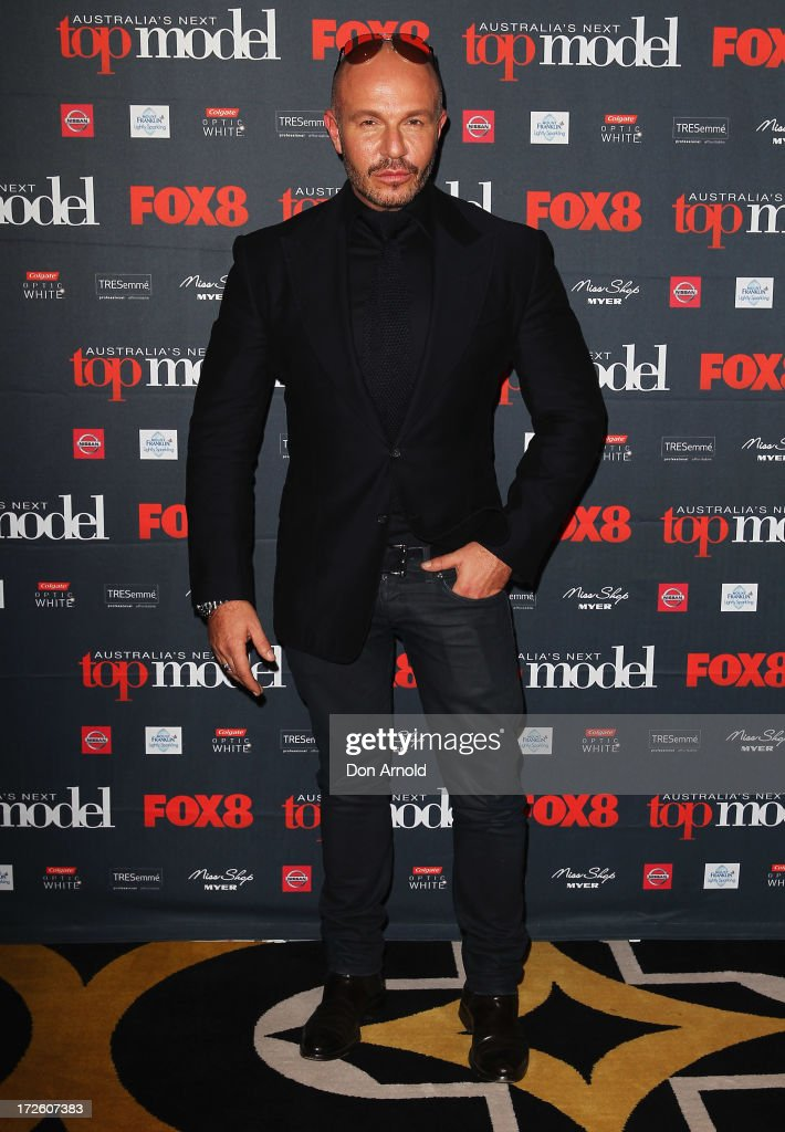 Alex Perry poses at the launch of Australia's Next Top Model Season 8 at Doltone House on July 4, 2013 in Sydney, Australia.