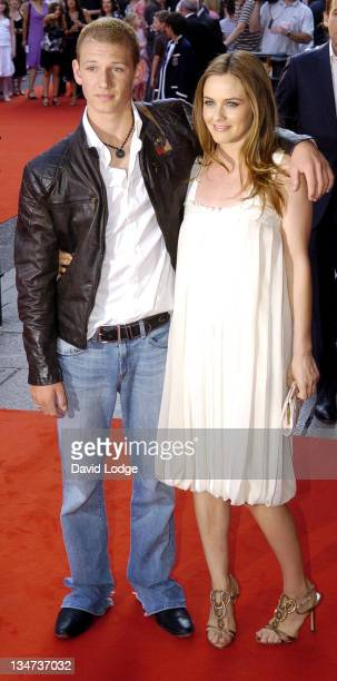 Alex Pettyfer and Alicia Silverstone during 'Stormbreaker' London Premiere at Vue West End in London Great Britain
