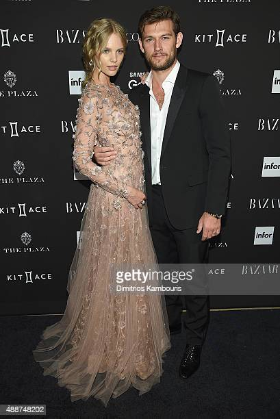 Alex Pettyfer and Marloes Horst attend the 2015 Harper's BAZAAR ICONS Event at The Plaza Hotel on September 16 2015 in New York City