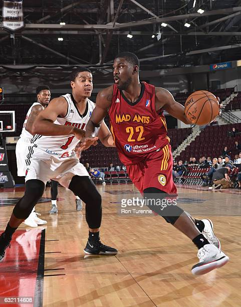 Alex Poythress of the Fort Wayne Mad Ants dribbles the ball during the game against the Windy City Bulls as part of 2017 NBA DLeague Showcase at the...