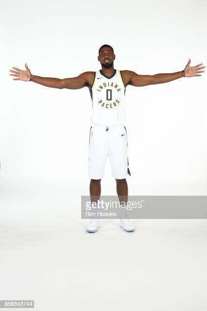 Alex Poythress of the Indiana Pacers poses for a portrait during the Pacers Media Day at Bankers Life Fieldhouse on September 25 2017 in Indianapolis...