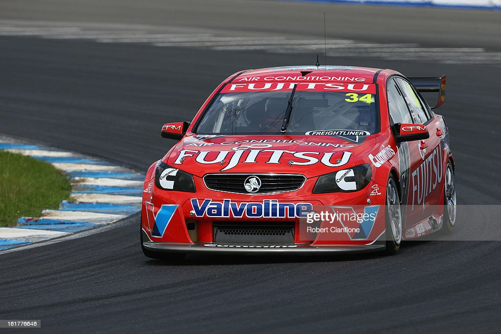 Alex Premat drives the #34 Fujitsu Racing GRM Holden during the 2013 Official V8 Supercars test day at Sydney Motorsport Park on February 16, 2013 in Sydney, Australia.