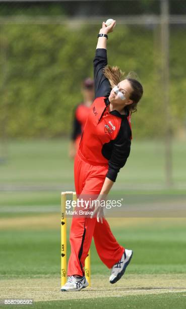 Alex Price bowls during the WNCL match between South Australia and Western Australia at Adelaide Oval No2 on October 6 2017 in Adelaide Australia