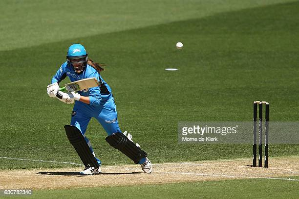Alex Price of the Adelaide Strikers bats during the WBBL match between the Sixers and Strikers on January 2 2017 in Adelaide Australia