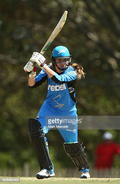 Alex Price of the Strikers bats during the Women's Big Bash League match between the Melbourne Renegades and the Adelaide Strikers at North Sydney...