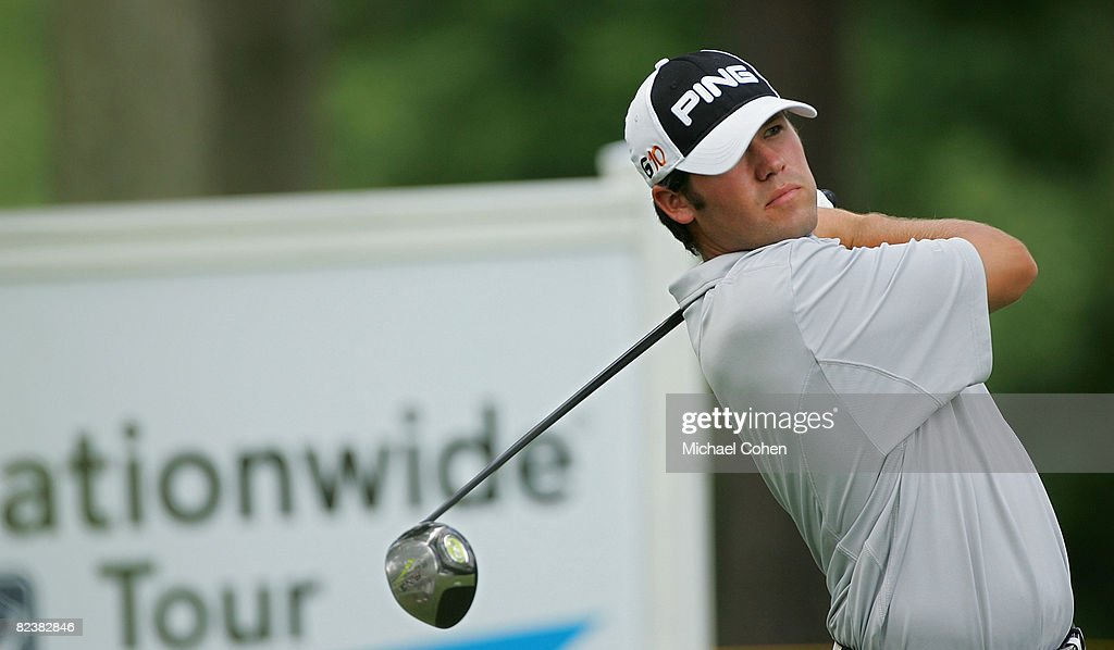 Alex Prugh hits his drive on the 18th hole during the third round of the Xerox Classic at the Irondequoit Country Club held on August 16, 2008 in Rochester, New York.