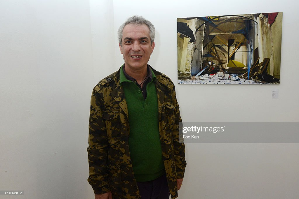 Alex Psyckoze, attends 'Les Bains Residence d'Artistes' Exhibition Preview And Book Launch at the Galerie Magda Danysz on June 22, 2013 in Paris, France.