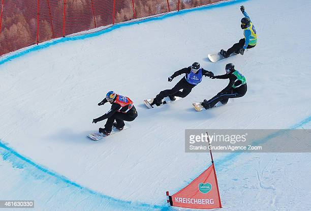 Alex Pullin of Australia competes during the FIS Snowboard World Championships Men's and Women's Snowboardcross on January 16 2015 in Kreischberg...