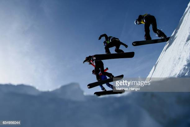 Alex Pullin of Australia Jarryd Hughes of Australia Alessandro Haemmerle of Austria and Hagen Kearney of the United States compete in the Men Big...