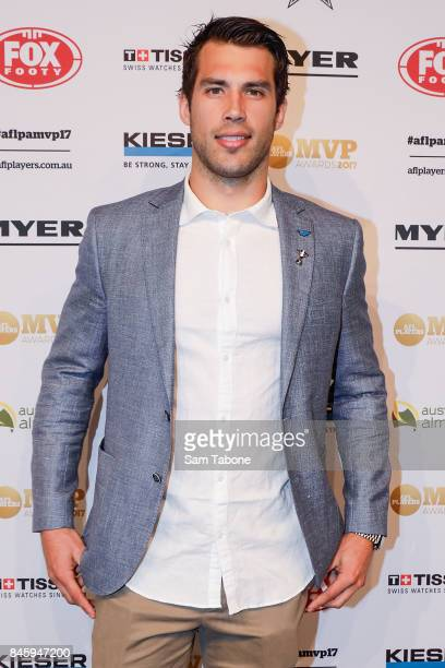 Alex Rance arrives ahead of the AFL Players' MVP Awards on September 12 2017 in Melbourne Australia