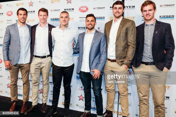 Alex Rance Dylan Grimes Dustin Martin Sam Lloyd Ben Griffiths and David Astbury arrives ahead of the AFL Players' MVP Awards on September 12 2017 in...