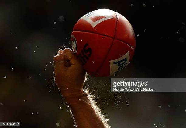 Alex Rance of the Tigers punches the ball during the 2017 AFL round 18 match between the Richmond Tigers and the GWS Giants at the Melbourne Cricket...