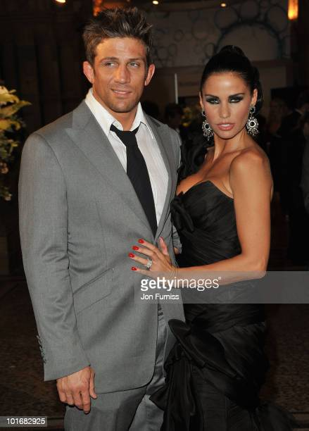 Alex Reid and Katie Price attend the Philips British Academy Television Awards after party at the Natural History Museum on June 6 2010 in London...