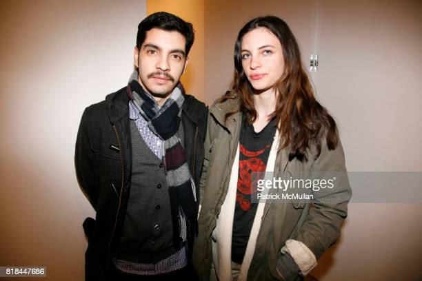 Alex Reinoso and Anna Tillex attend ERWIN OLAF Opening Reception at Hasted Hunt Kraeutler on January 28 2010 in New York