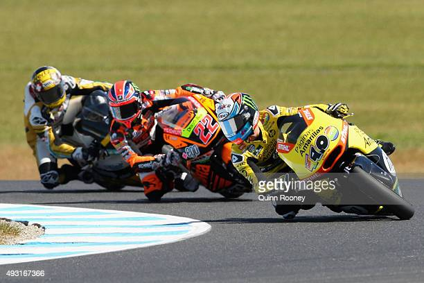 Alex Rins of Spain and Paginas Amarillas HP 40 rides during the Moto2 race before the 2015 MotoGP of Australia at Phillip Island Grand Prix Circuit...