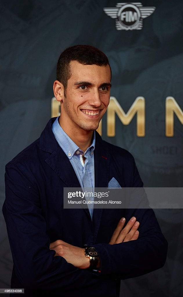 Alex Rins of Spain and Paginas Amarillas HP40 attends the 2015 FIM MotoGP Awards Ceremony at Fira de Valencia on November 8, 2015 in Valencia, Spain.