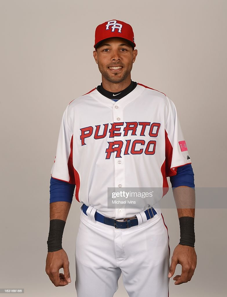Alex Rios #51 of Team Puerto Rico poses for a headshot for the 2013 World Baseball Classic at the City of Palms Baseball Complex on Monday, March 4, 2013 in Fort Myers, Florida.