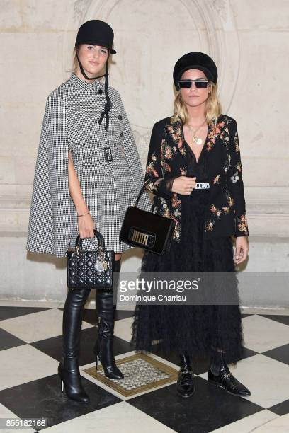 Alex Riviere and Blanca Miro attend the Christian Dior show as part of the Paris Fashion Week Womenswear Spring/Summer 2018 on September 26 2017 in...