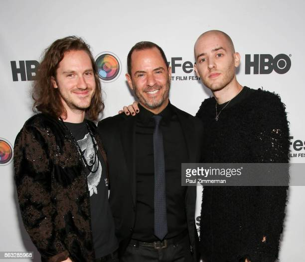 Alex Robert Kushner and Anthony attend NewFest 2017 Opening Night Susanne Bartsch On Top at SVA Theater on October 19 2017 in New York City