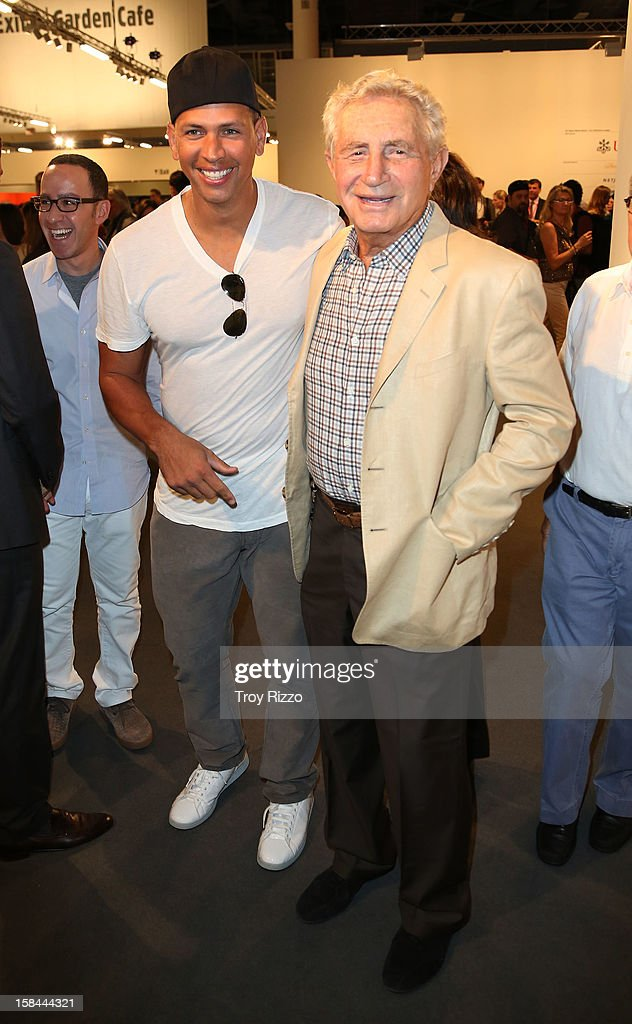 Alex Rodriguez and Don Soffer are sighted during Art Basel Miami at the Miami Beach Convention Center on December 7, 2012 in Miami Beach, Florida.