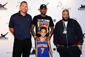 Alex Rodriguez Fabolous Johan Jackson and DJ Khaled attend 2016 Roc Nation Summer Classic Charity Basketball Tournament at Barclays Center of...