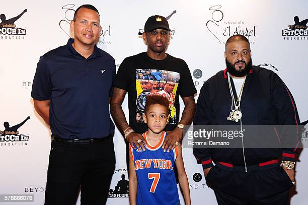 Alex Rodriguez Fabolous Johan Jackson and DJ Khaled attend 2016 Roc Nation Summer Classic Charity Basketball Tournament at Barclays Center of...