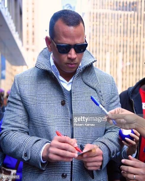 Alex Rodriguez is seen on November 21 2017 in New York City