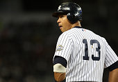 Alex Rodriguez of the New York Yankees during a game against the Baltimore Orioles at Yankee Stadium on September 11 2009 in the Bronx borough of New...