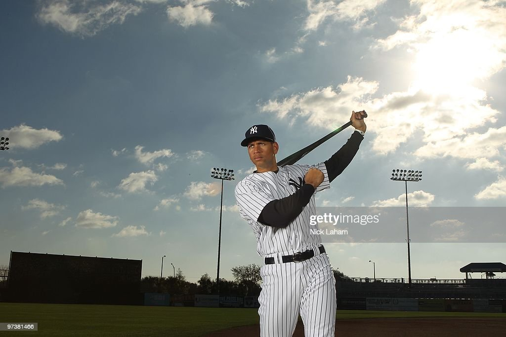 <a gi-track='captionPersonalityLinkClicked' href=/galleries/search?phrase=Alex+Rodriguez+-+Baseball+Player&family=editorial&specificpeople=167080 ng-click='$event.stopPropagation()'>Alex Rodriguez</a> #13 of the New York Yankees poses for a photo during Spring Training Media Photo Day at George M. Steinbrenner Field on February 25, 2010 in Tampa, Florida.