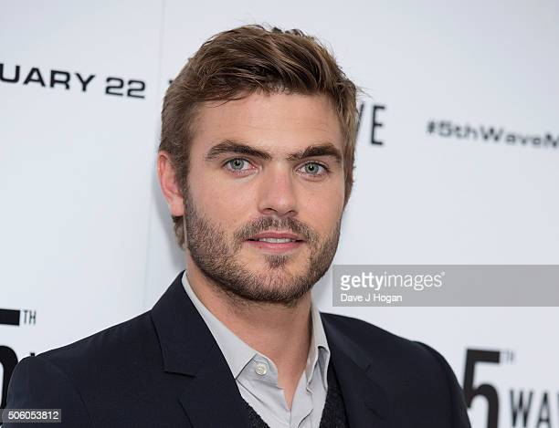 Alex Roe attends a photo call for 'The 5th Wave' at The Soho Hotel on January 21 2016 in London England