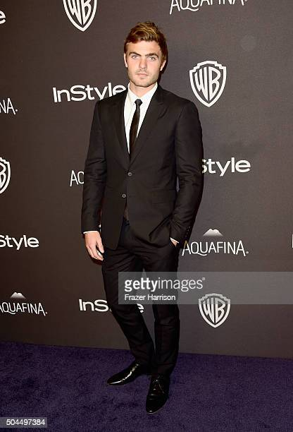 Alex Roe attends InStyle and Warner Bros 73rd Annual Golden Globe Awards PostParty at The Beverly Hilton Hotel on January 10 2016 in Beverly Hills...
