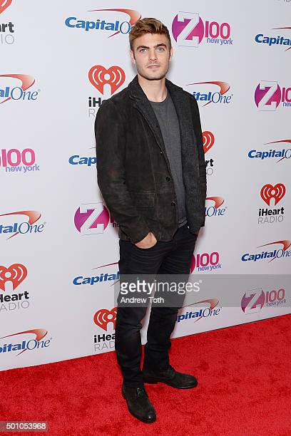 Alex Roe attends Z100's iHeartRadio Jingle Ball 2015 arrivals at Madison Square Garden on December 11 2015 in New York City