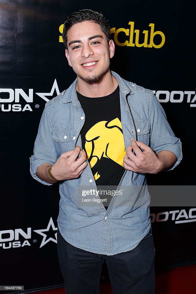 Alex Romero arrives at the J. Cole Performs At Footaction's 'Own The Stage' Celebration at W Hollywood on October 19, 2012 in Hollywood, California.