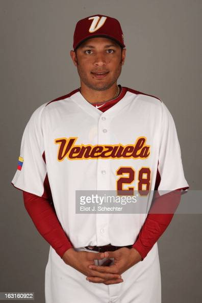 Alex Romero of Team Venezuela poses for a headshot for the 2013 World Baseball Classic at Roger Dean Stadium on Monday March 4 2013 in Jupiter Florida