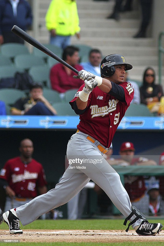 Alex Romero of Venezuela in action during the Caribbean Series 2013 at Sonora Stadium on February 03, 2013 in Hermosillo, Mexico.