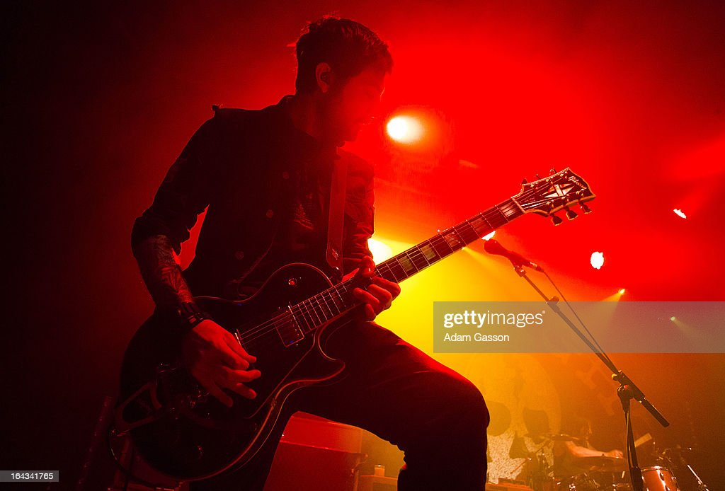 Alex Rosamilia from The Gaslight Anthem performs at O2 Academy on March 22, 2013 in Bristol, England.
