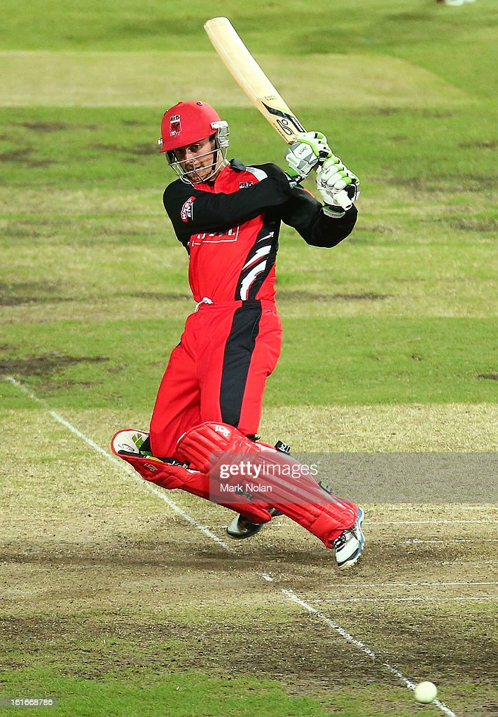Alex Ross of the Redbacks bats during the Ryobi Cup One Day match between the New South Wales Blues and the South Australian Redbacks at Sydney Cricket Ground on February 14, 2013 in Sydney, Australia.