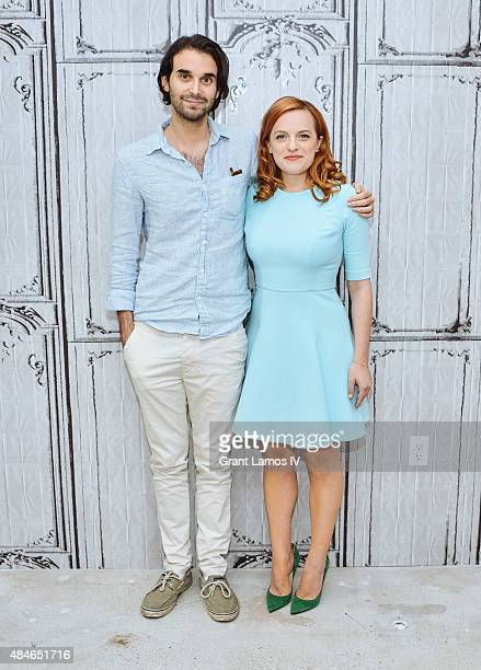 Alex Ross Perry and Elisabeth Moss attend the AOL's BUILD Speaker Series Present 'Queen Of Earth' at AOL Studios in New York on August 20 2015 in New...