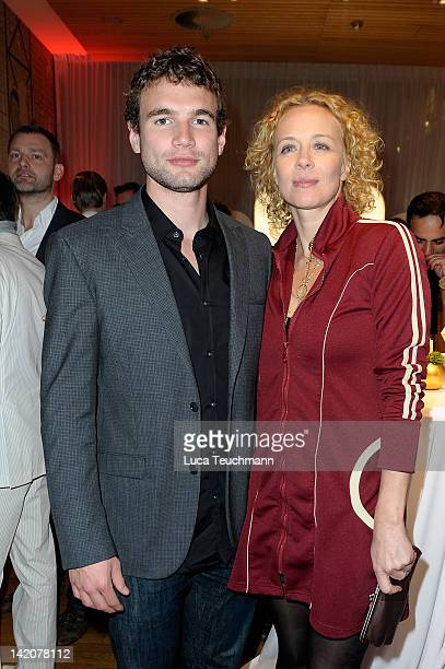 Alex Russell and Katja Riemann attends the Jupiter Award at the Cafe Moskau on March 29 2012 in Berlin Germany
