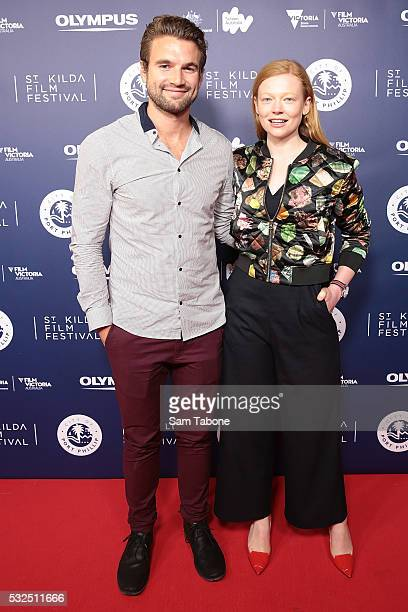 Alex Russell And Sarah Snook attend Opening Night of the St Kilda Film Festival at the Palais Theatre on May 19 2016 in St Kilda Australia