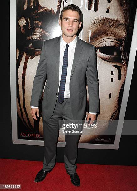 Alex Russell arrives at the 'Carrie' Los Angeles Premiere at ArcLight Hollywood on October 7 2013 in Hollywood California