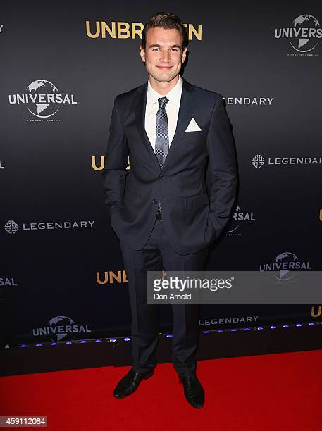 Alex Russell arrives at the world premiere of Unbroken at State Theatre on November 17 2014 in Sydney Australia