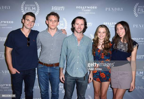 Alex Russell James Hoare David O'Donnell Skye Popov and Azure Brandi attend the San Diego International Film Festival 2017 on October 6 2017 in San...