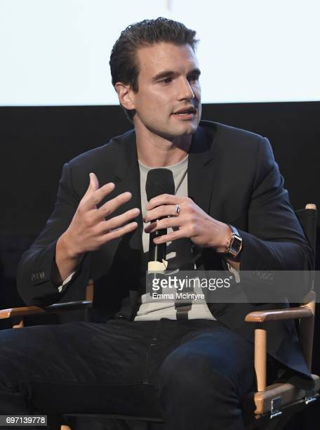 Alex Russell speaks at the 'Izzy Gets The Fuck Across Town' and 'Ok Call Me Back' Premieres during the 2017 Los Angeles Film Festival at Arclight...