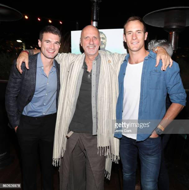 Alex Russell Yossi Ginsberg and Joel Jackson attend a Screening Of 'Jungle' at EP LP on October 17 2017 in West Hollywood California