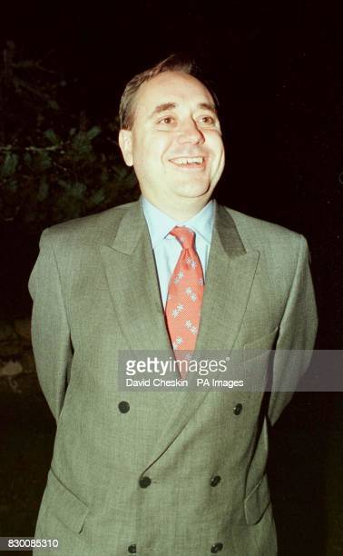 Alex Salmond leader of the SNP leaves the Queen Mother's residence at Balmoral Birkhall House after meeting with Prince Charles tonight Picture by...