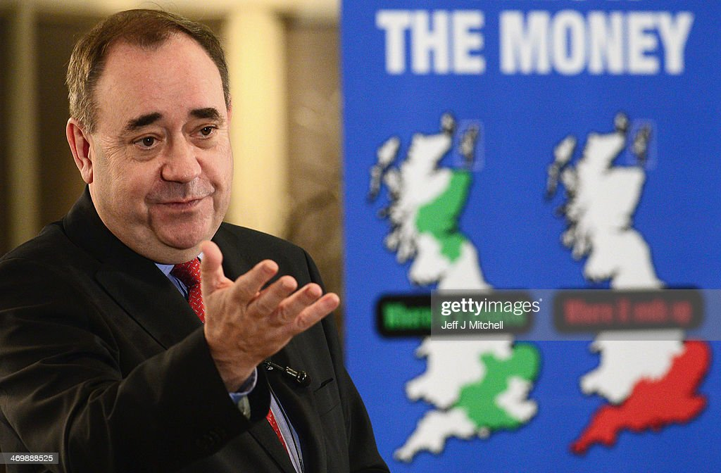 <a gi-track='captionPersonalityLinkClicked' href=/galleries/search?phrase=Alex+Salmond&family=editorial&specificpeople=857688 ng-click='$event.stopPropagation()'>Alex Salmond</a>, Scotlands First Minister addresses a Business for Scotland event on February 17, 2014 in Aberdeen, Scotland. Scotlands first minister mounted his defence for independence following a weekend of pressure on whether Scotland could keep sterling as its AA currency or expect a smooth entry into the EU.